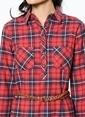 Lee Cooper Gömlek Elbise Kırmızı
